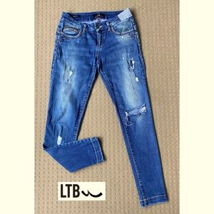 LTB Beccy Blue Ankle Skinny Ripped Jeans W26 L28